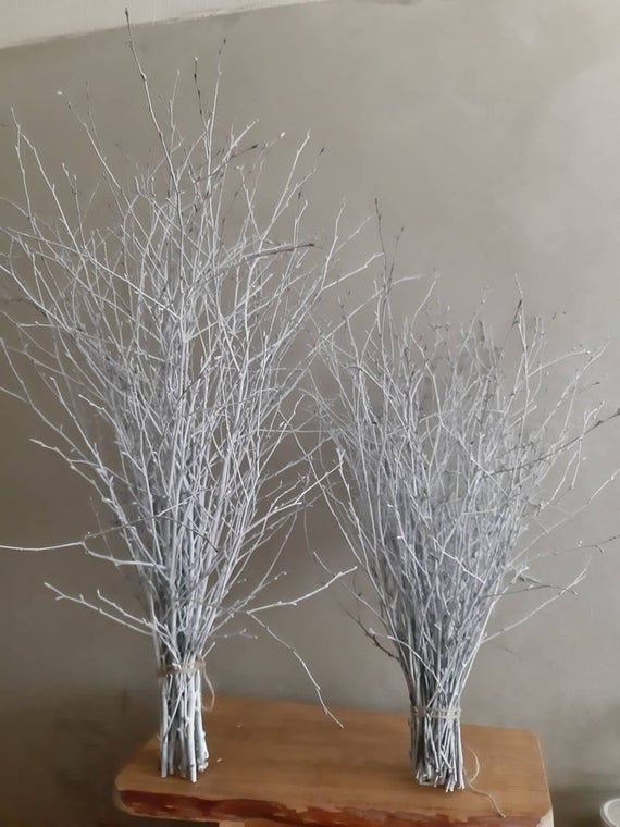 White Birch Twigs 30 Long Natural Wood Birch Branches Bunch Decor Wedding Centerpiece Table Decor Vase Filler Windows Festive Decor In 2021 Tree Branch Decor White Branches Decor Birch Tree Wedding Decor