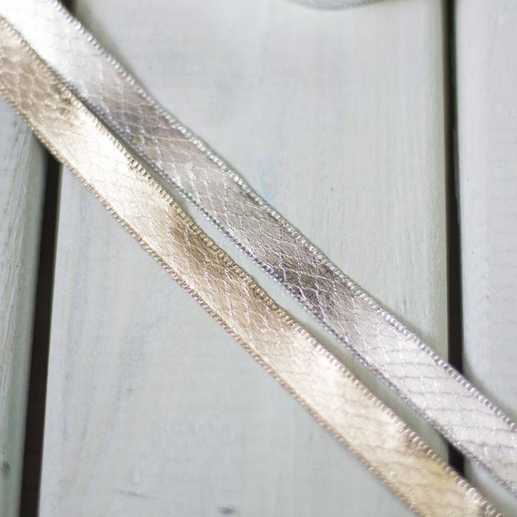 Metallic Snake Skin Ribbon - Sew Crafty