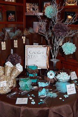 A Tiffany Blue, Chocolate, & Leopard Themed Birthday Party