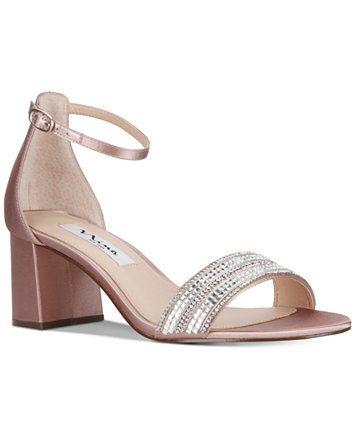 e0c70515b Image 1 of Nina Elenora Evening Block-Heel Sandals