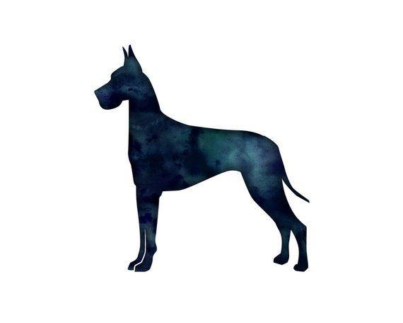 Great Dane Dog Geometric Pattern Silhouette From Breed