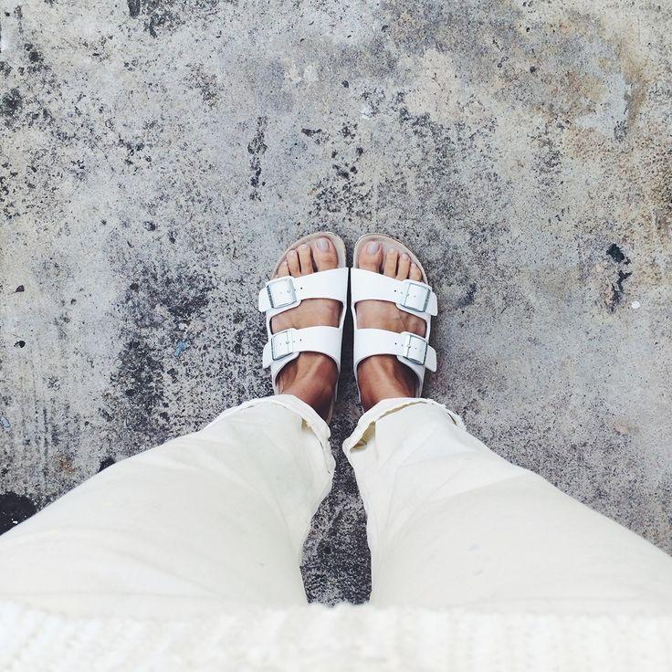 White Birkenstocks www.pho-london.com