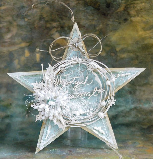 Dorota_mk, Christmas tag / ornament - star More