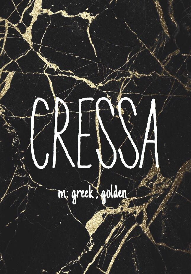 Cressa - astrological baby girl name!