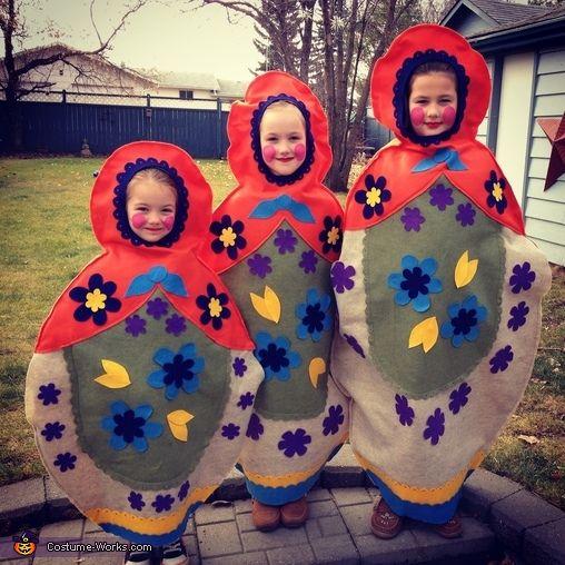 Matryoshka Dolls Costume - Halloween Costume Contest via @costume_works