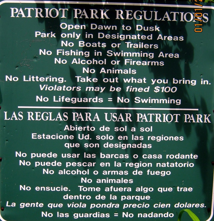 Park Regulations.  The park is located on Coventry Lake.
