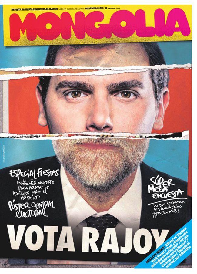 Todo apunta a que para la revista satírica Mongolia, Albert Rivera y Mariano Rajoy son candidatos bastante parecidos... Ilustración de United Unknown.