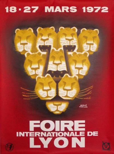 Foire de Lyon poster by Morvan Herve, ca. 1972