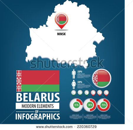 Belarus vector set. flags and icons isolated on white background.
