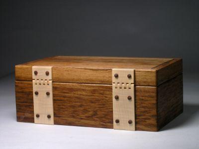 Tiger oak jewellery box - Box Galleries - Peter Lloyd