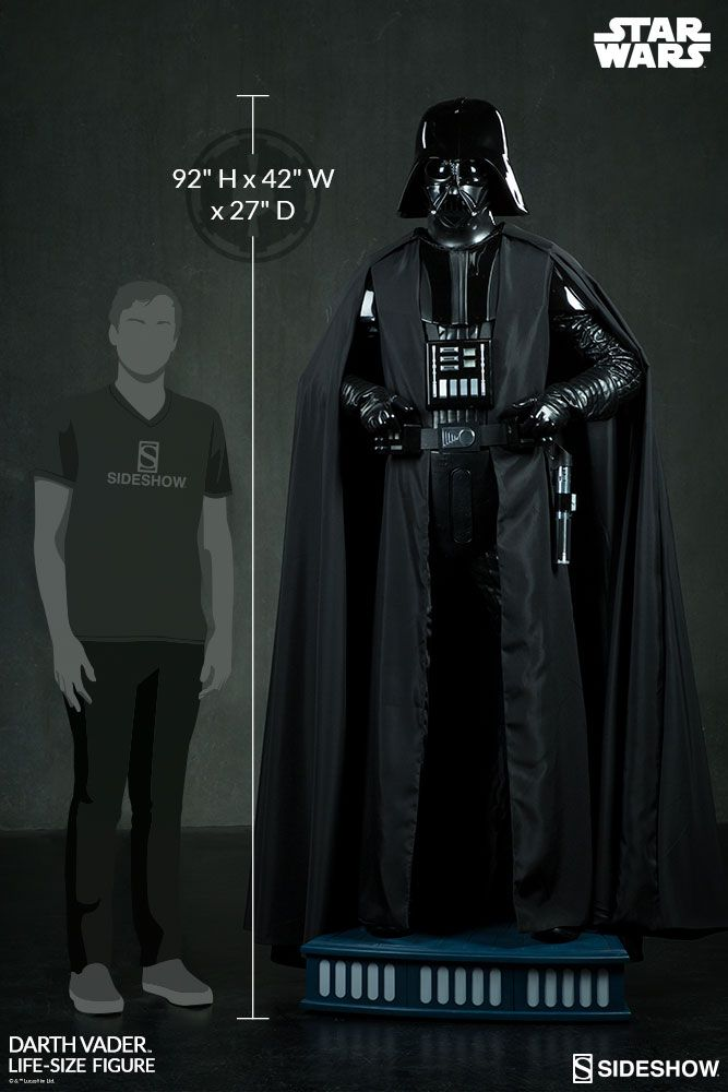 The Darth Vader Life Size Figure Now Available At Sideshowcollectibles Com For Fans Of Star Wars And Disney Darth Vader Star Wars Darth Vader Star Wars Darth