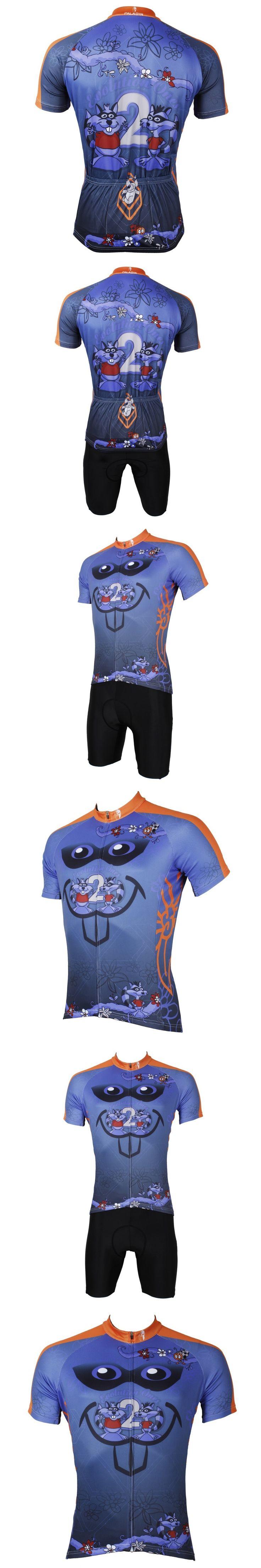 """PALADIN """" Cartoon Rat """" Mens Short Sleeve Cycling Jersey Bike Shirt Cycling Clothing"""
