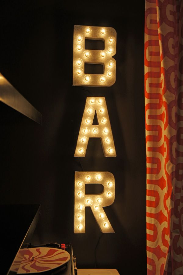 """Fun tutorial for making a light-up sign (could be cool for the basement) For John's """"man cave""""!"""