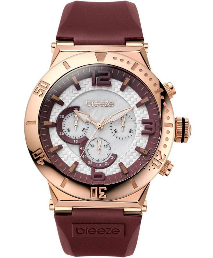 BREEZE High Fidelity Chrono Brown Rubber Strap Τιμή: 185€ http://www.oroloi.gr/product_info.php?products_id=35233