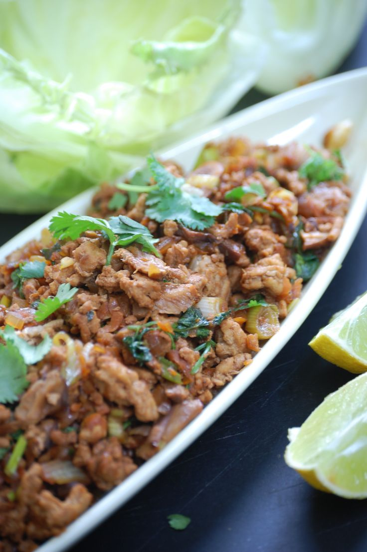 Pork and Lime San Choy Bow