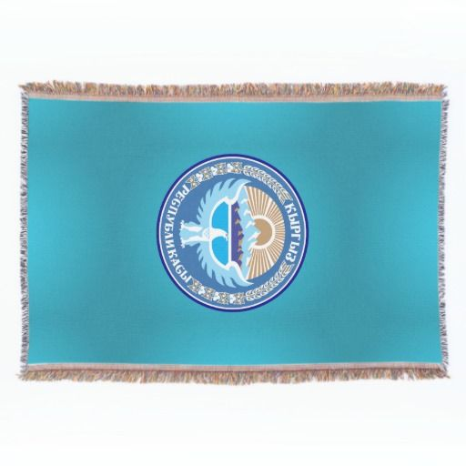 Kyrgyzstani coat of arms throw