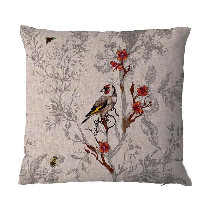 Timorous Beasties Cushions - Goldfinch Cushion £85.00