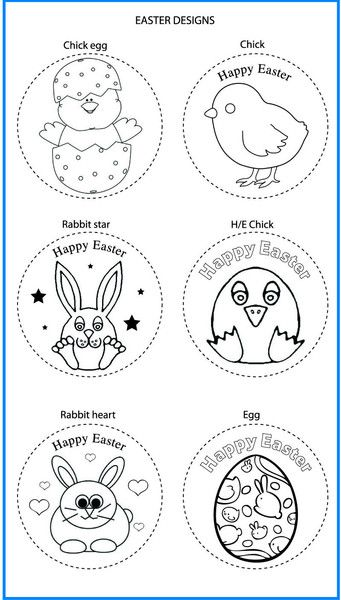 Easter Mixed Designs - Colour In Yourself Badges