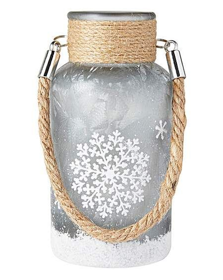 Small White Frosted Candle Holder