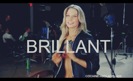 Sarah Brandner.    #model #actress #beautiful #german #girl #woman #brillant #gif #happy #happiness #perfection