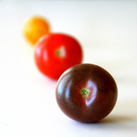 Black Cherry Tomatoes are so tasty! They make a gorgeous salad. More here: http://www.shockinglydelicious.com/heirloom-black-cherry-tomatoes/