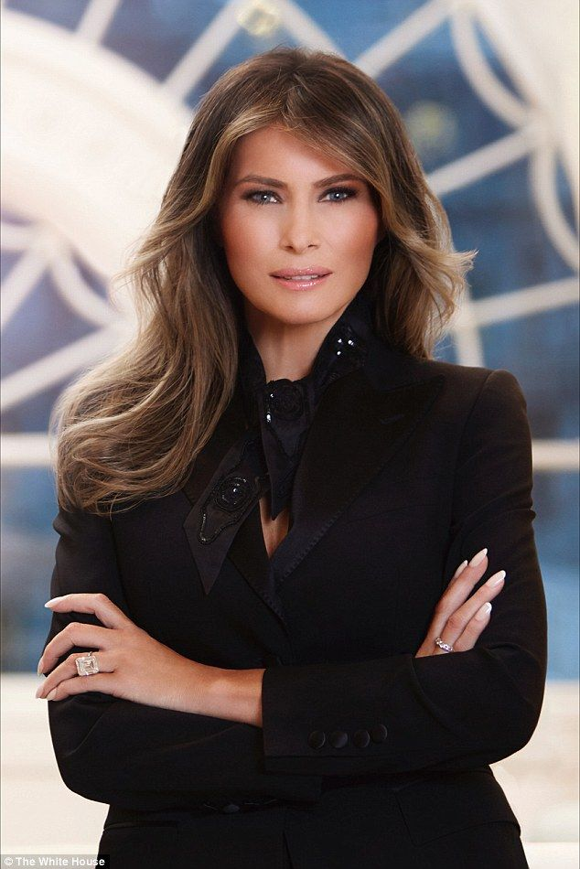 First Lady Melania Trump in her official White House portrait, so stunning