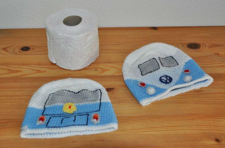 Chris in de haak: uitleg VW toilet busje hoes!