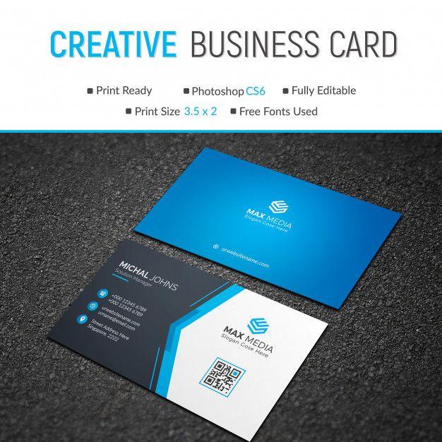 Elegant Blue Business Card Blue Business Card Printing Business Cards Business Cards Creative