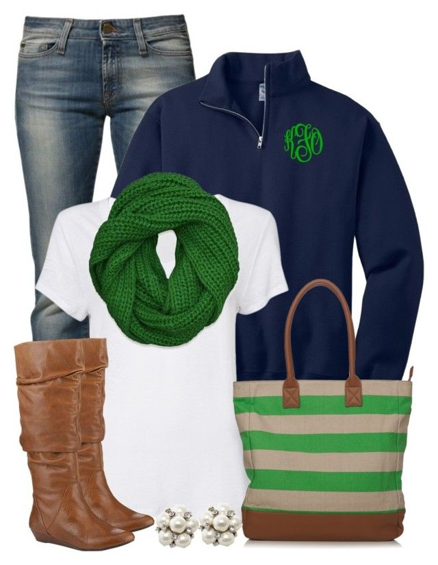 """""""Green & Navy"""" by qtpiekelso ❤ liked on Polyvore featuring Miss Sixty, Witchery, Abercrombie & Fitch and Gianni Bini"""