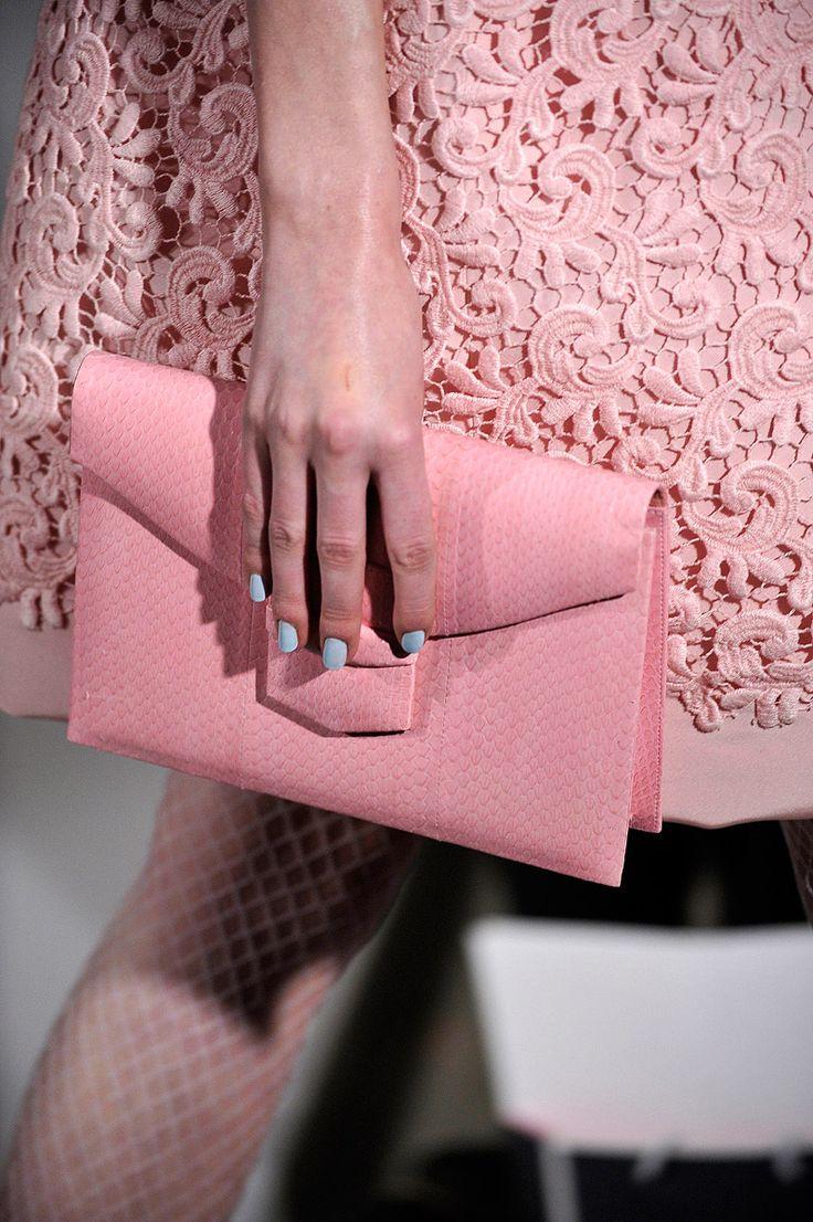 pink on pink on blue. oscar de la renta fall 2012 rtw.