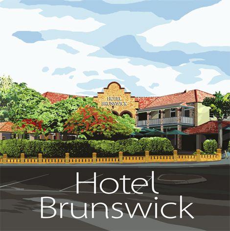 Hotel Brunswick, Brunswick Heads. A delicious Art Deco pub