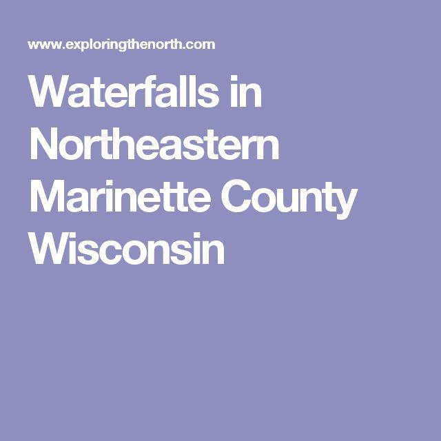 Waterfalls in Northeastern Marinette County Wisconsin