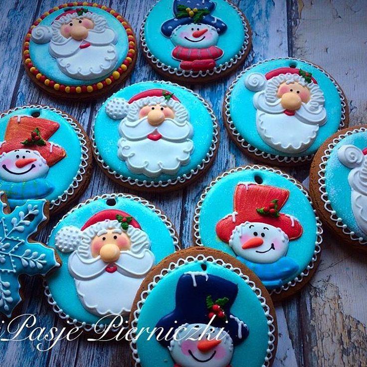 Snownan#bałwan #mikolaj#cookies#anipasjepierniki #handmade #