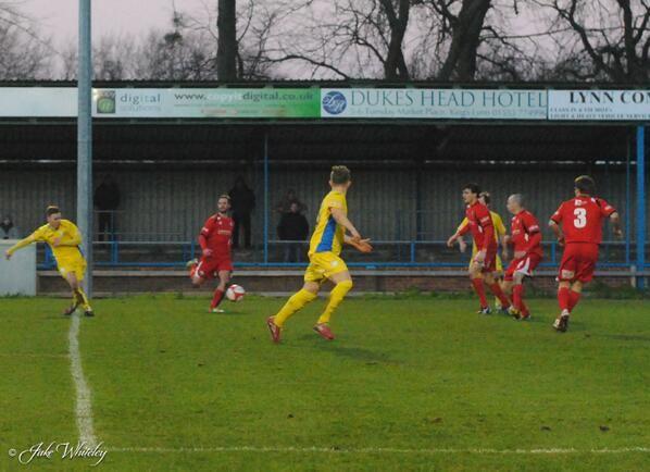 Jake Jones scores for King's Lynn Town FC v Buxton FC 11/1/14  #kltfc