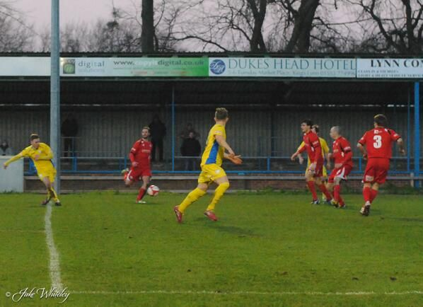 Jake Jones scores for King's Lynn Town FC v Buxton FC 11/1/14  #kltfc
