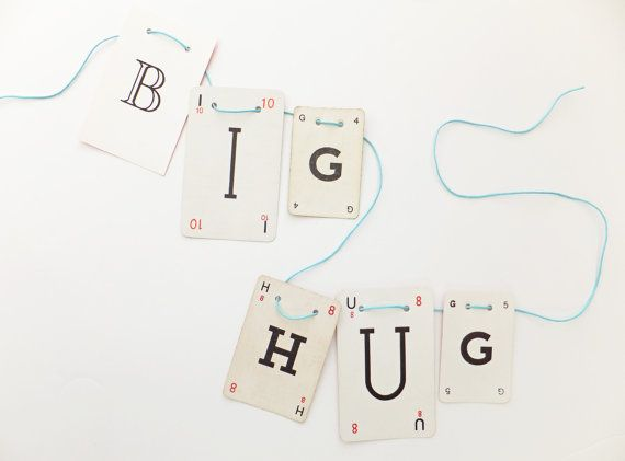 BIG HUG Bunting Romantic Garland recycled by PeonyandThistle