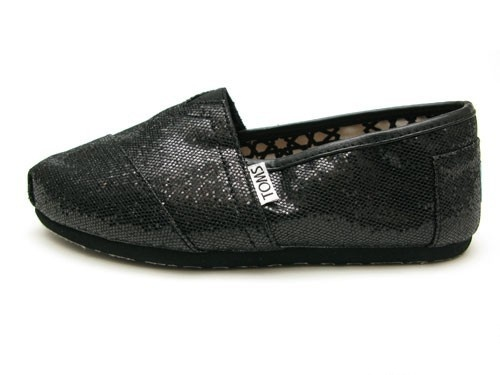 Black glitter Toms.  Yes, please!