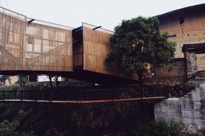 bridge school / Xiashi (in the Chinese province of Fujian) / designed by Li Xiaodong Atelier