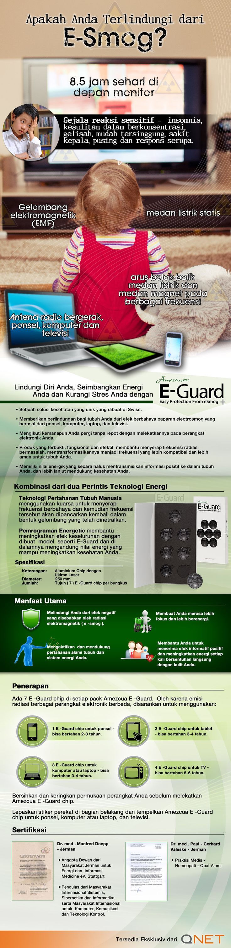 #Infographic: Protect yourself from E-Smog with E-Guard [Bahasa]