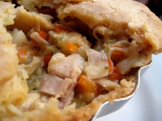 The best pot pie recipe I've found.  Great with turkey, chicken, or left over beef roast.