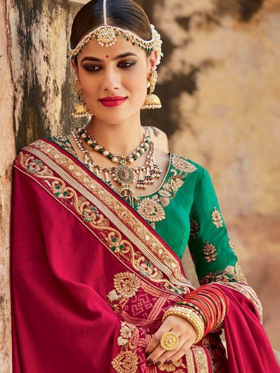22cf97181fc Indian Stylish Wedding Party Saree Collection 2019
