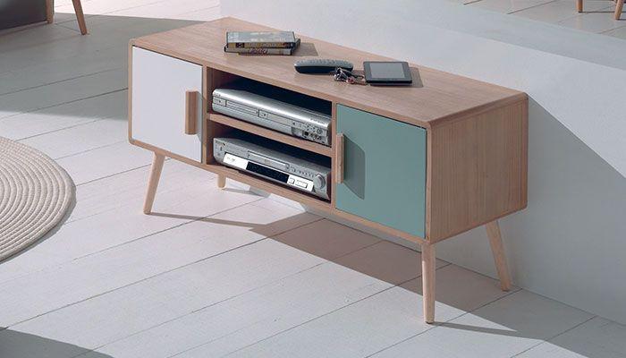 ...  Meuble Tv Bois, Armazenamento De Tv e Meuble Tv Style Scandinave
