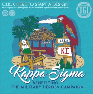 Kappa Sigma | K-Sig | ΚΣ | South Seas | Philanthropy | TGI Greek | Greek Apparel | Custom Apparel | Fraternity Tee Shirts | Fraternity T-shirts | Custom T-Shirts