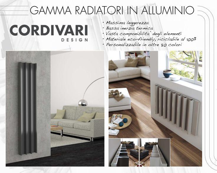 Gamma radiatori cordivari design in alluminio cordivari for Radiatori cordivari ardesia