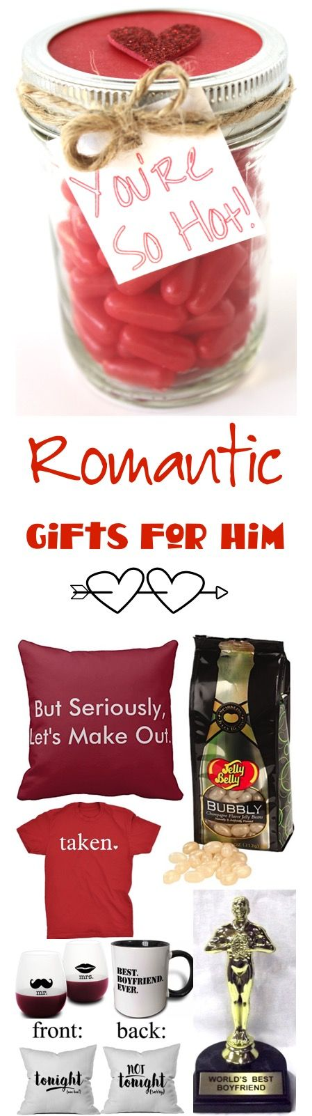 44 Romantic Gifts for Him! So many fun, silly, and romantic gifts for your boyfriend or husband! | TheFrugalGirls.com