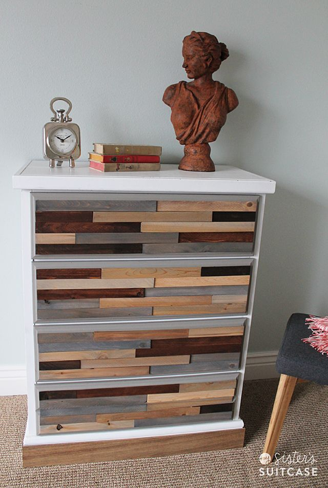 Check out this fabulous wood shim dresser makeover for less than $40 from Holly at mysisterssuitcase.com | thisoldhouse.com