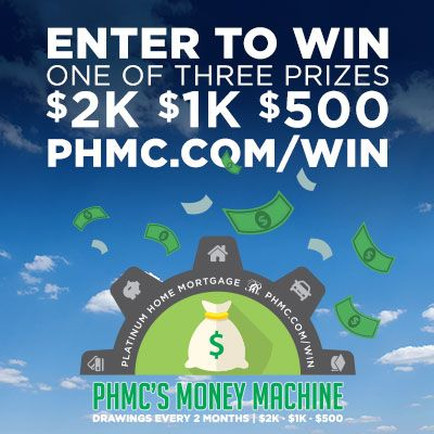 """Enter the """"PHMC's Money Machine Sweepstakes"""". There are 3 prize winners every 2 months. For your chance to win, enter here: bit.ly/phmcWIN"""