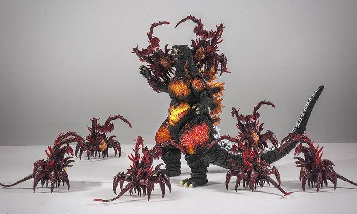 S.H. Monsterarts Godzilla and Destroyah Evolution Pack... and a little Photoshop for the duplicates.