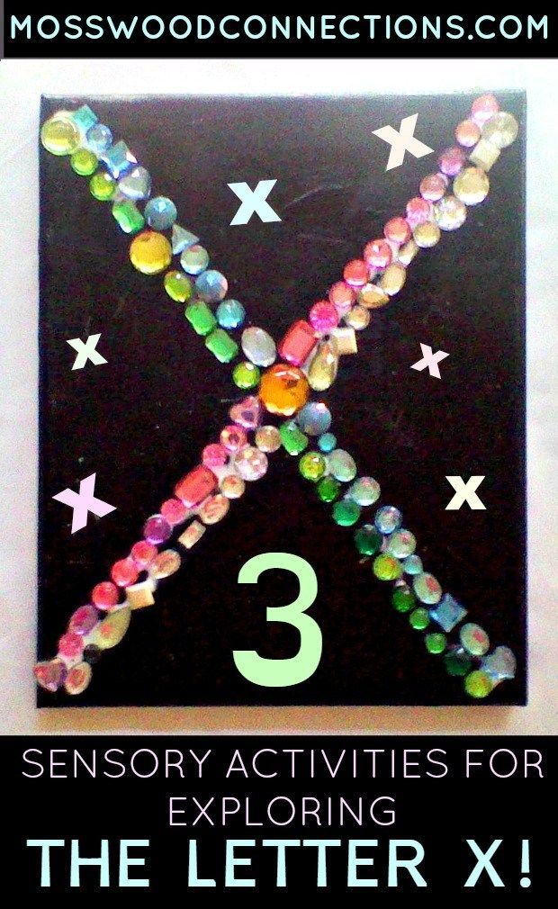 X is for Explore! 3 Sensory Activities to Explore the Letter X