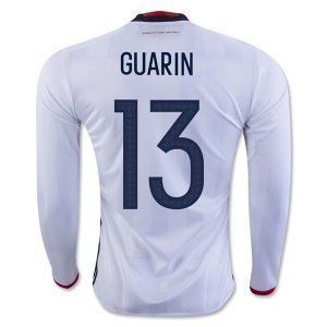 Colombia National Team Jersey 2016 Euro Home LS Soccer Shirt #13 GUARIN [E316]